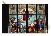 Jesus Angels Stained Glass Painting Inside Cologne Cathedral Germany Carry-all Pouch