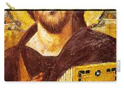 Jesus Icon At Saint Catherine Monastery Carry-all Pouch