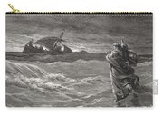 Jesus Walking On The Sea John 6 19 21 Carry-all Pouch by Gustave Dore