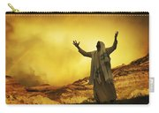 Jesus With Arms Stretched Towards Heaven Carry-all Pouch