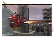 Jet Bike Traveling Thru The City Carry-all Pouch