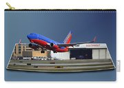 Jet Chicago Airplanes 12 Out Of Bounds Carry-all Pouch