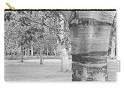 Jewel In The Woods In Black And White Carry-all Pouch