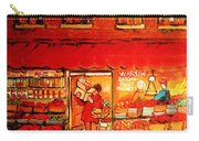 Jewish Culture In Montreal Paintings Of Warshaw's Fruit Store On St.lawrence Street Scene Art  Carry-all Pouch