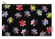 Jigsaw Puzzle Flag Pieces Carry-all Pouch
