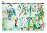 Jim Morrison And The Doors Live On Stage- Watercolor Portrait Carry-all Pouch