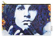 Jim Morrison Chuck Close Style Carry-all Pouch by Joshua Morton