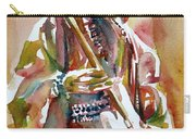 Jimi Hendrix Playing The Guitar Portrait.3 Carry-all Pouch