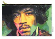 Jimi Hendrix Portrait Carry-all Pouch