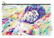 Jimi Hendrix Sleeping - Watercolor Portrait Carry-all Pouch