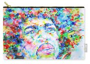 Jimi Hendrix  - Watercolor Portrait.3 Carry-all Pouch