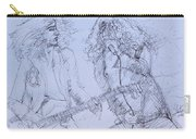 Jimmy Page And Robert Plant Live Concert-pen Portrait Carry-all Pouch