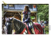 Joan Of Arc - A Woman Knight  In Armor Carry-all Pouch