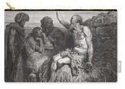 Job And His Friends Carry-all Pouch by Gustave Dore