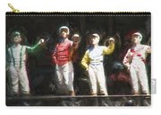 Jockeys In A Row Carry-all Pouch