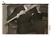 Joe Dimaggio And His Bat Carry-all Pouch