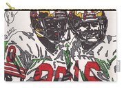 Joe Montana And Jerry Rice Carry-all Pouch by Jeremiah Colley