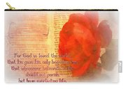 John 3 16 Floral Carry-all Pouch