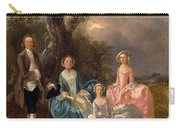 John And Ann Gravenor With Their Daughters Carry-all Pouch