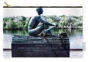 John B Kelly Statue Philadelphia Carry-all Pouch by Bill Cannon