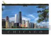 John Hancock Chicago Skyline Panorama Poster Carry-all Pouch
