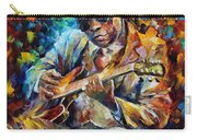 John Lee Hooker - Palette Knife Oil Painting On Canvas By Leonid Afremov Carry-all Pouch
