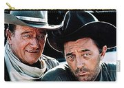 John Wayne And Robert Mitchum El Dorado 1967 Publicity Photo Old Tucson Arizona 1967-2012 Carry-all Pouch