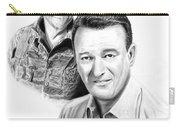 John Wayne Carry-all Pouch by Peter Piatt
