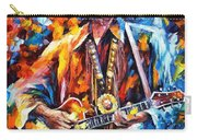Johnny Cash - Palette Knife Oil Painting On Canvas By Leonid Afremov Carry-all Pouch