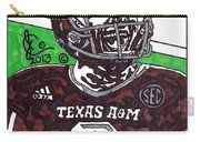 Johnny Manziel 6 Carry-all Pouch by Jeremiah Colley