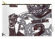 Johnny Manziel 9 Carry-all Pouch by Jeremiah Colley