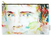 Johnny Rotten - Watercolor Portrait Carry-all Pouch