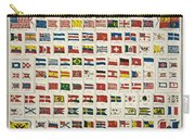 Johnsons New Chart Of National Emblems Carry-all Pouch by Georgia Fowler