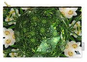 Jonquil Kaleidoscope Under Polyhedron Glass Carry-all Pouch