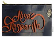 Jose Gasparilla Name Plate Color Carry-all Pouch