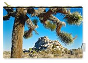 Joshua Tree And Jumbo Rocks By Quail Springs In Joshua Tree Np-ca Carry-all Pouch