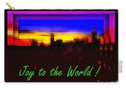 Joy To The World - Empire State Christmas And Holiday Card Carry-all Pouch