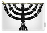 Judaism Candelabra Carry-all Pouch