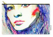 Juliette Greco - Colored Pens Portrait Carry-all Pouch