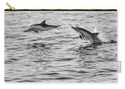 Jump For Joy - Common Dolphins Leaping. Carry-all Pouch