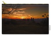 Jump Off Rock Sunset Silhouettes Carry-all Pouch