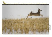 Jumping Doe In Corn Field Carry-all Pouch