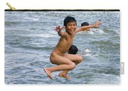 Jumping In The River Carry-all Pouch