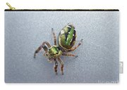 Jumping Spider - Green Salticidae Carry-all Pouch