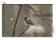 Junco In The Snow Carry-all Pouch