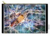 Junco On Icy Branch - Digital Paint II Carry-all Pouch