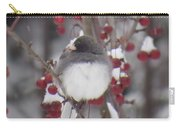 Junco Puffed Up On Crabapple Tree Carry-all Pouch