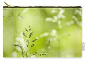 June Green Grass Flowering Carry-all Pouch