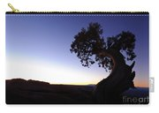 Juniper Tree At Dawn Carry-all Pouch