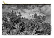 Juniper Trees At The Ghost Ranch Black And White Carry-all Pouch